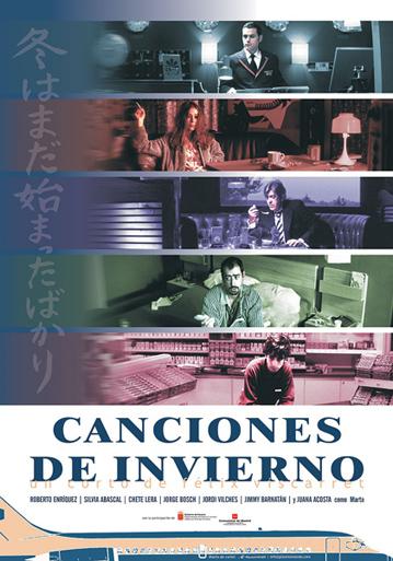 Cartel Canciones de Invierno, producido por Lanube Películas